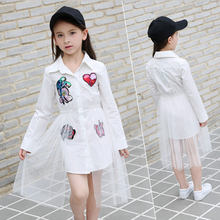 754066593 Nuevo 2018 de algodón niños Niñas Vestidos neto Hilado applique niños ropa  adolescentes vestido de fiesta chica 6 8 10 11 12 13 .
