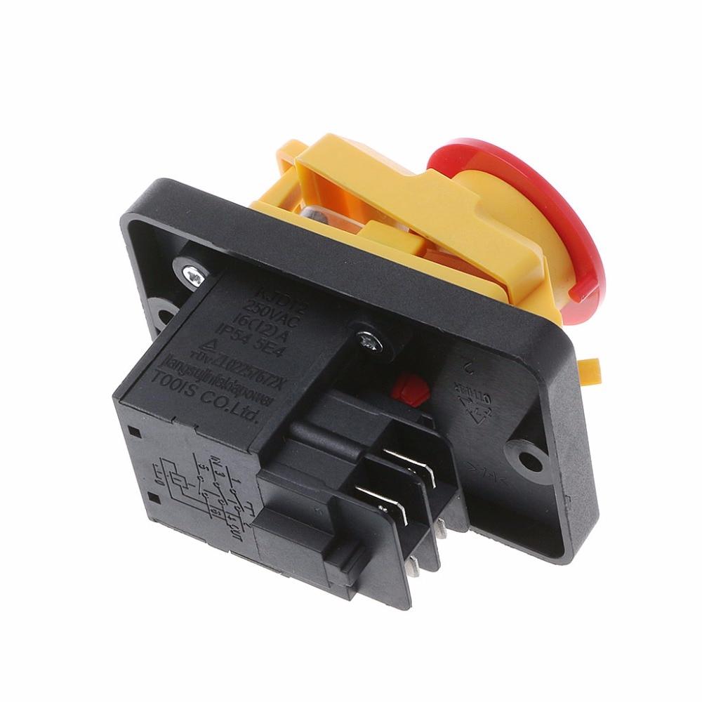 Fine Kjd12 250V 16A 4Pin Waterproof Magnetic Start Stop No Volt Release Wiring Database Gramgelartorg