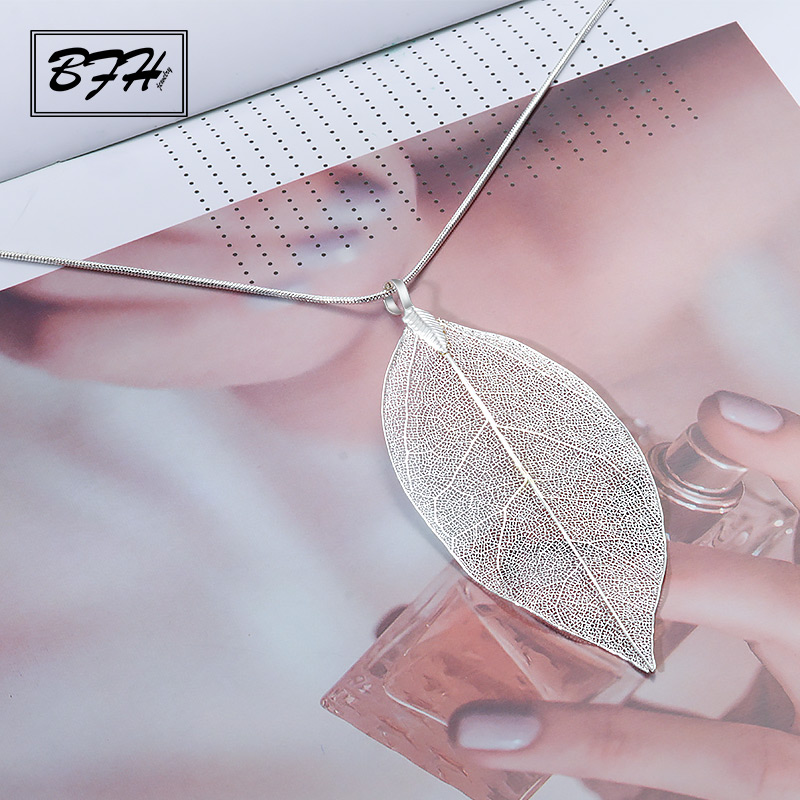 BFH Fashion Silver Long Necklace for Woms