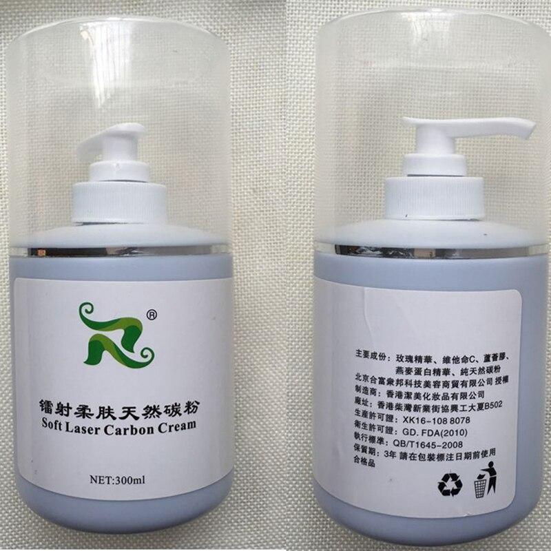 300ml Soft Laser Carbon Cream gel för nd yag laser hudföryngring - Sjukvård - Foto 2