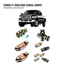 Led interior lights For Ford f-250/350 2004-2007  15pc Led Lights For Cars lighting kit automotive bulbs Canbus цена