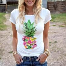 pineapple t-shirts ulzzang tee 2019 summer top womens fashion tops pink shirt korean female tshirt harajuku tees