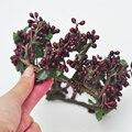 Ручной Лист Burgendy цвет Ягод Лесной Сельский Цветок Корона Daylife Свадебные и Партия Красный цветок корона, boho, цветочные венок