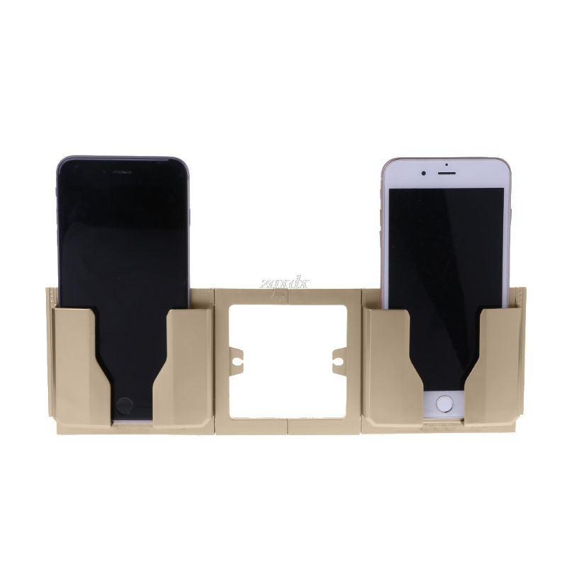 Fashion Wall Shelf Stand Mount Support Wall Phone Holder Home Charging Storage Box Stand Bracket Mobile Phone Holder Whosale