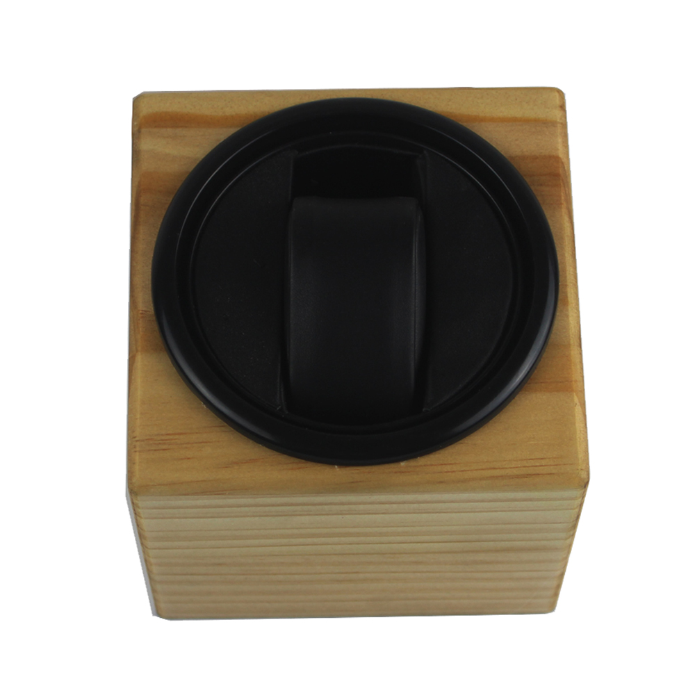 Watch Winder ,LT Wooden Automatic Rotation 1+0 Watch Winder Storage Case Display Box (Outside is pine wood color) new arrival black color carbon fibre wood watch winder german ultra quiet 5 modes watch winder
