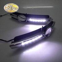 SNCN Brillo Estupendo Coche Accesorios ABS Cubierta de Alta Potencia de Día LED Luz corriente DRL de La Lámpara Para Audi A6 2005 2006 2007 2008