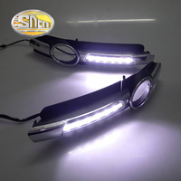 SNCN Super Brightness Car Accessories ABS Cover High Power LED Daytime Running Light DRL Lamp For Audi A6 2005 2006 2007 2008