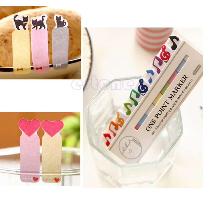 Cute Bear Penguin Mini 150 Pages Bookmark Sticker Post It Tab Pad Sticky Notes