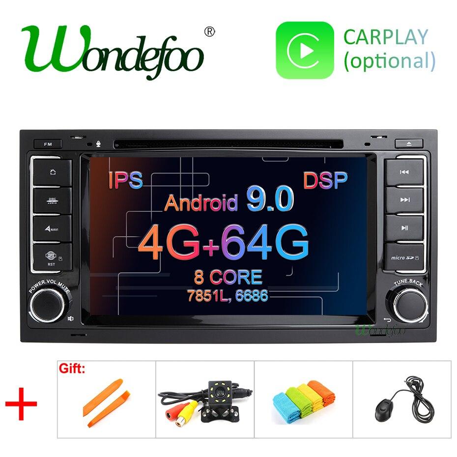 IPS DSP Android 9 0 4G 64G CAR GPS For VW Volkswagen Touareg T5 Transporter Multivan