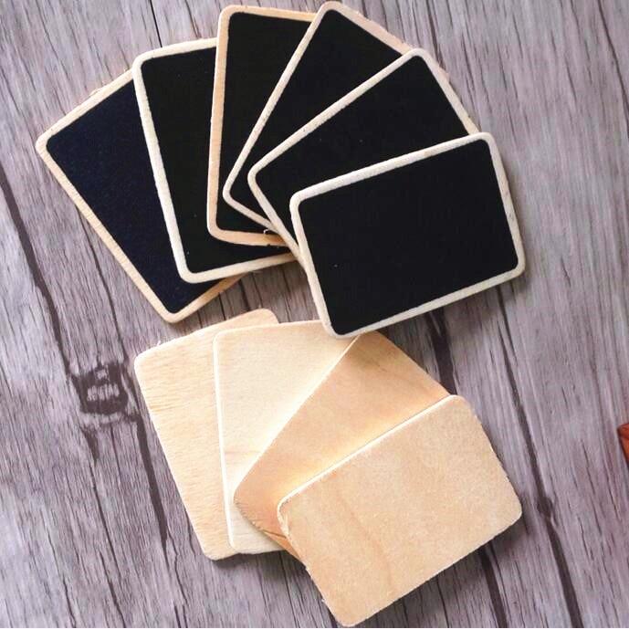 1pcs/lot Lovely Vintage Mini Blank Wooden Cards Wood Blackboard Bookmarks Students' DIY Tools