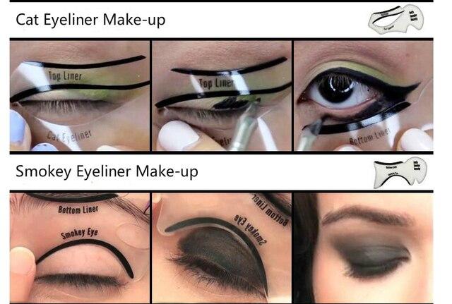 Eyeliner Template Card Stencil (10 Pcs)