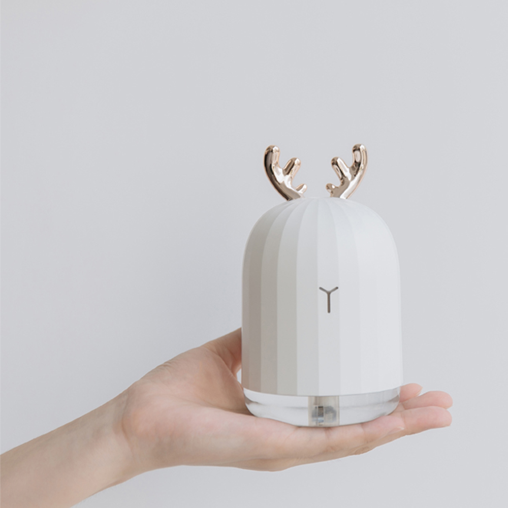 New Cute White Deer Pink Rabbit Air Humidifier Creative Cartoon USB Diffuser 220ML Charging Light Desktop Aroma Diffuser in Humidifiers from Home Appliances