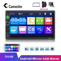 Camecho 2 Din 7 inch Car Radio Bluetooth Multimedia Player Auto Audio Stereo Android Mirror Link Autoradio FM Radios Car Stereo