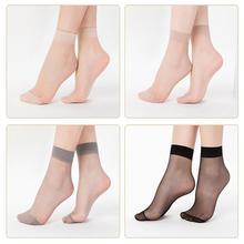 DSstyles 10 Pairs Women Leisure Soft Fashion Transparent Short Silk