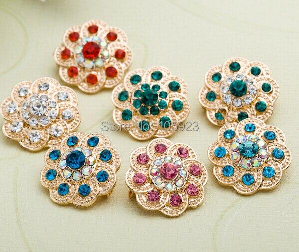 Hijab brooch pin fashion mini shawl flower shaped fix safety brooch scarf pin high 6 colors FREE ship 12pc/lot