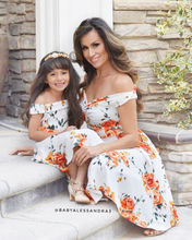 Summer Family Matching  Mother Daughter Floral Dress