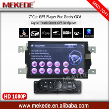 Geely GC6 car autoradio player hot selling support gps navigator radio cassette bluetooth free shipping with gps map for gift