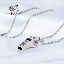 New 925 Pure Sliver Necklace Whistle Emergency Survival Lifeguard Whistle Perfect Birthday And Christmas Gift