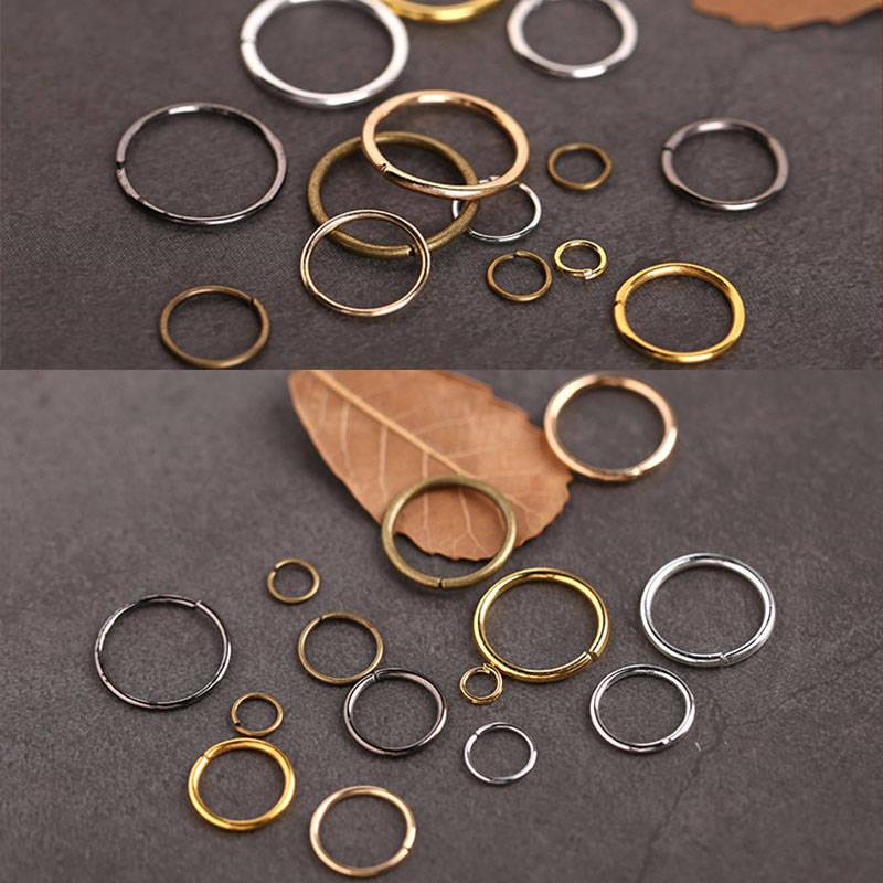 купить 200pcs/lot Gold Silver Link Loop 4 5 6 8 10 mm Open Jump Rings for DIY Jewelry Making Rings Necklace Bracelet Findings Connector по цене 63.96 рублей
