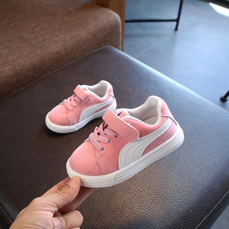 New Children's Shoes Girls Sneaker Boys Sport Sneakers Soft Bottom Baby Toddler Flat Sneaker Size 21-30