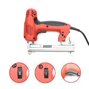 Image 4 - 1022J Framing Tacker U Stapler Electric Staples Gun With 300Pcs Nails 220V 2000W Electric Power Tools For Woodworking Hand Tool