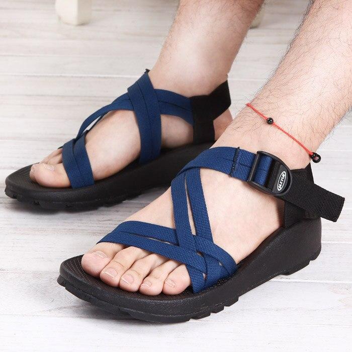 Male Female Non-Slip Rubber Shoes 2017 Vietnamese Sandals Roman Fashion Casual Shoes Men Summer Beach Sandalias Masculinas