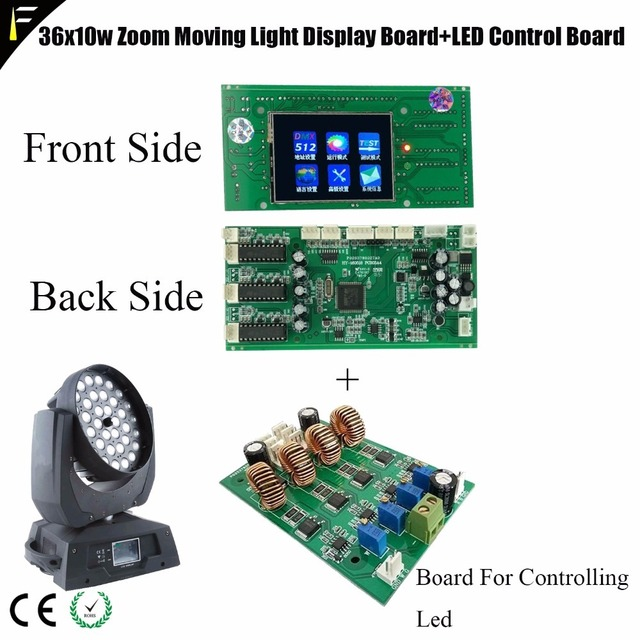 Stage Zoom Wash Moving Head Light 36*10w Parts Touch Display Main Board  Replacing LED