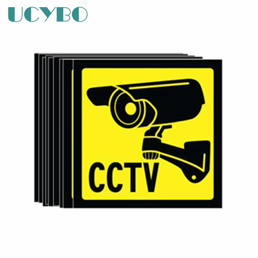 40PCS Warning Sign Decal Sticker for CCTV Security Surveillance Camera Sticker Warning Decal Signs