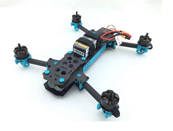 MANA 295 Kit de Drone de course pliable FPV quadrirotor Kits combinés ARF avec moteurs ESCs contrôleur de vol caméra OSD A/V Tx & Rx