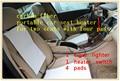Sistema de aquecimento de fibra de carbono. Assento de carro heaing almofadas e almofadas. Um conjunto de dois assentos