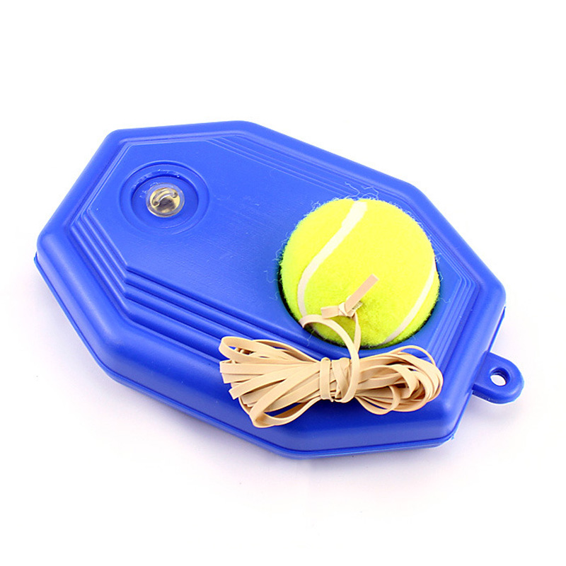 Style Tennis Ball Back Base Trainer Set + Rubber Band For Single Training Practice
