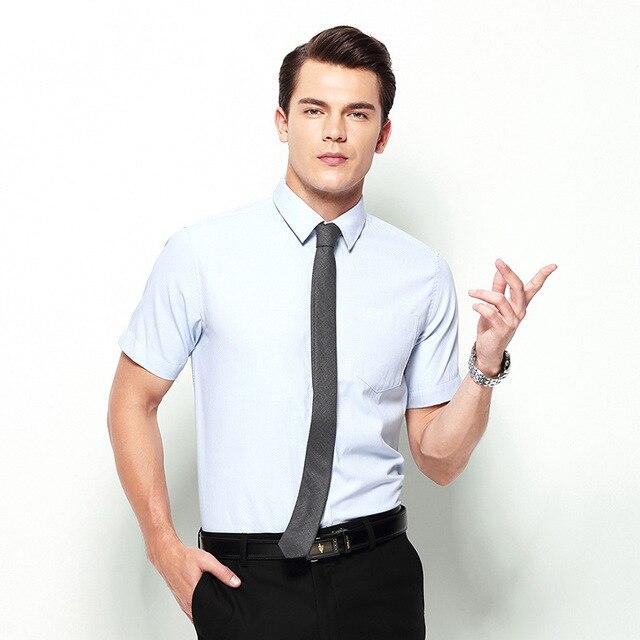Youzimeihui мужская летом с коротким рукавом рубашки профессиональный Тонкий простые тапочки рубашка с короткими рукавами