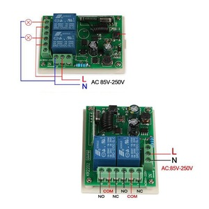 Image 2 - QIACHIP 433Mhz Universal Wireless Remote Control Switch AC 250V 110V RF Relay Receiver Module + 3pcs RF 433Mhz Remote Controller