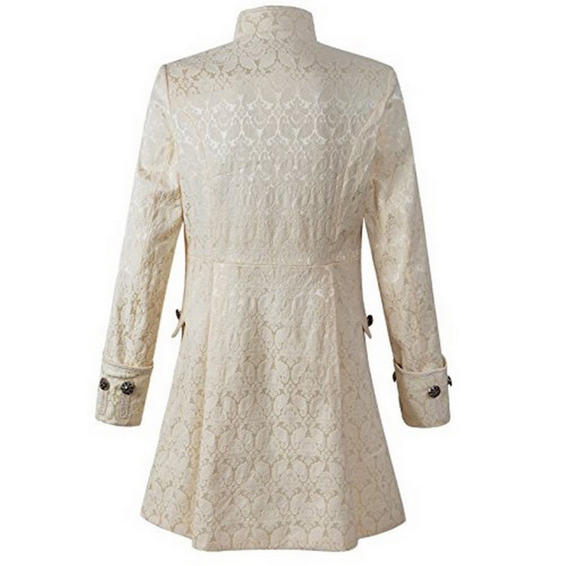 NIBESSER в винтажном стиле, с длинным рукавом Для мужчин пальто мода плюс Размеры Готический Brocade куртка сюртук бархатной отделкой стимпанк кур...