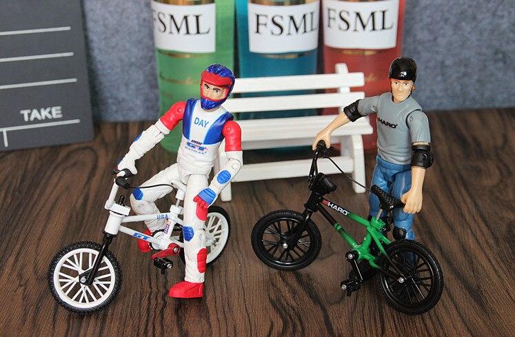 2 adet/grup eğlenceli Flick Trix parmak bisiklet oyuncaklar için çocuk BMX bisiklet modeli hediye