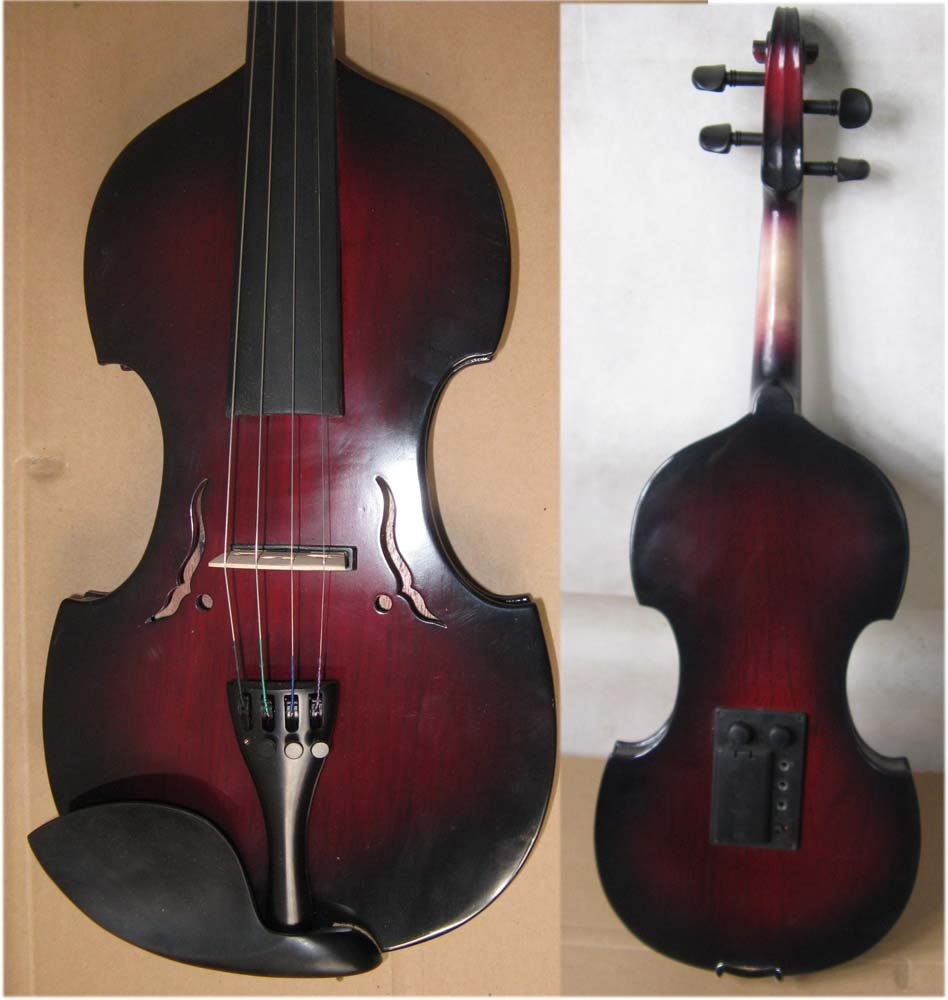4/4 High quality  Electric violin baroque 4 4 high quality 5 string electric violin yellow 2 pickup violin