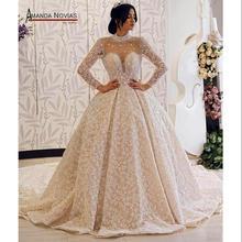 Amanda Novias brand trouwjurk lange mouwen bruid jurk 2019