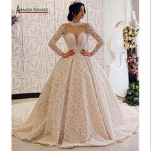 アマンダ Novias ブランドのウェディングドレス長袖の花嫁のドレス 2019