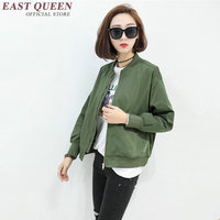 New Autumn jacket bomber army green jacket women 2018 long sleeve bomber jacket for women casual female streetwear NN0699 HQ