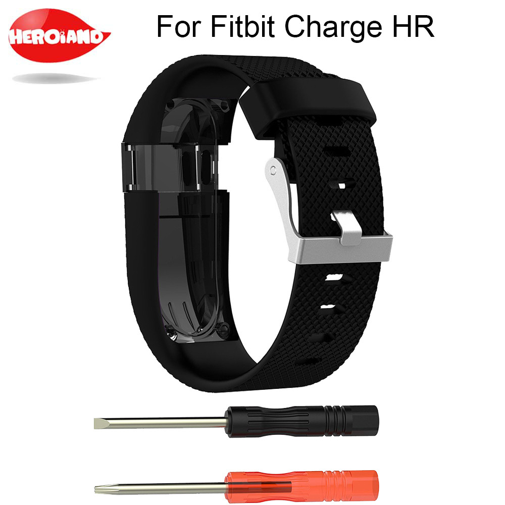 For Fitbit Charge HR Replacement Watch Strap Silicone Watchband for Fitbit Charge HR Activity Tracker Metal Buckle Wrist Band replacement luxury silicone watch band wrist strap for fitbit charge 2 bracelet580288