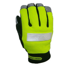 high visibility 100% waterproof and windproof warmth durability safety glove(green  large)