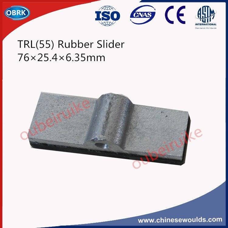 76x25.4x6.35mm TRL (55) Montado Deslizante De Borracha Para Testador de Resistência À Derrapagem