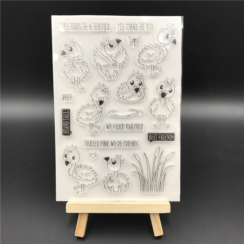 Bird Transparent Clear Silicone Stamp/Seal for DIY scrapbooking/photo album Decorative clear stamp sheets A562 lovely animals and ballon design transparent clear silicone stamp for diy scrapbooking photo album clear stamp cl 278