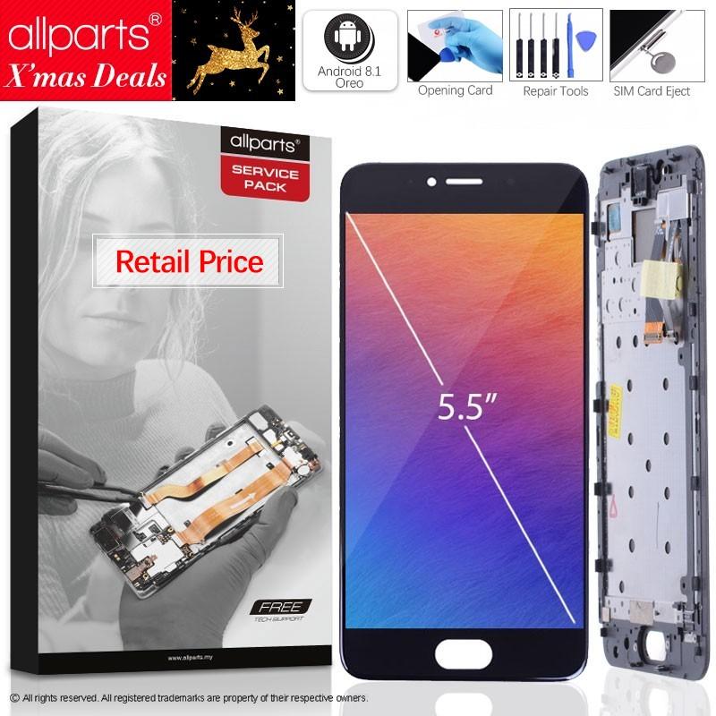 5.2'' Оригинальный тачскрин дисплей экран для MEIZU Pro 6 сенсорный дисплей Оригинал LCD с тачскрином в рамке замена запчасти M570M M570h Черный белый