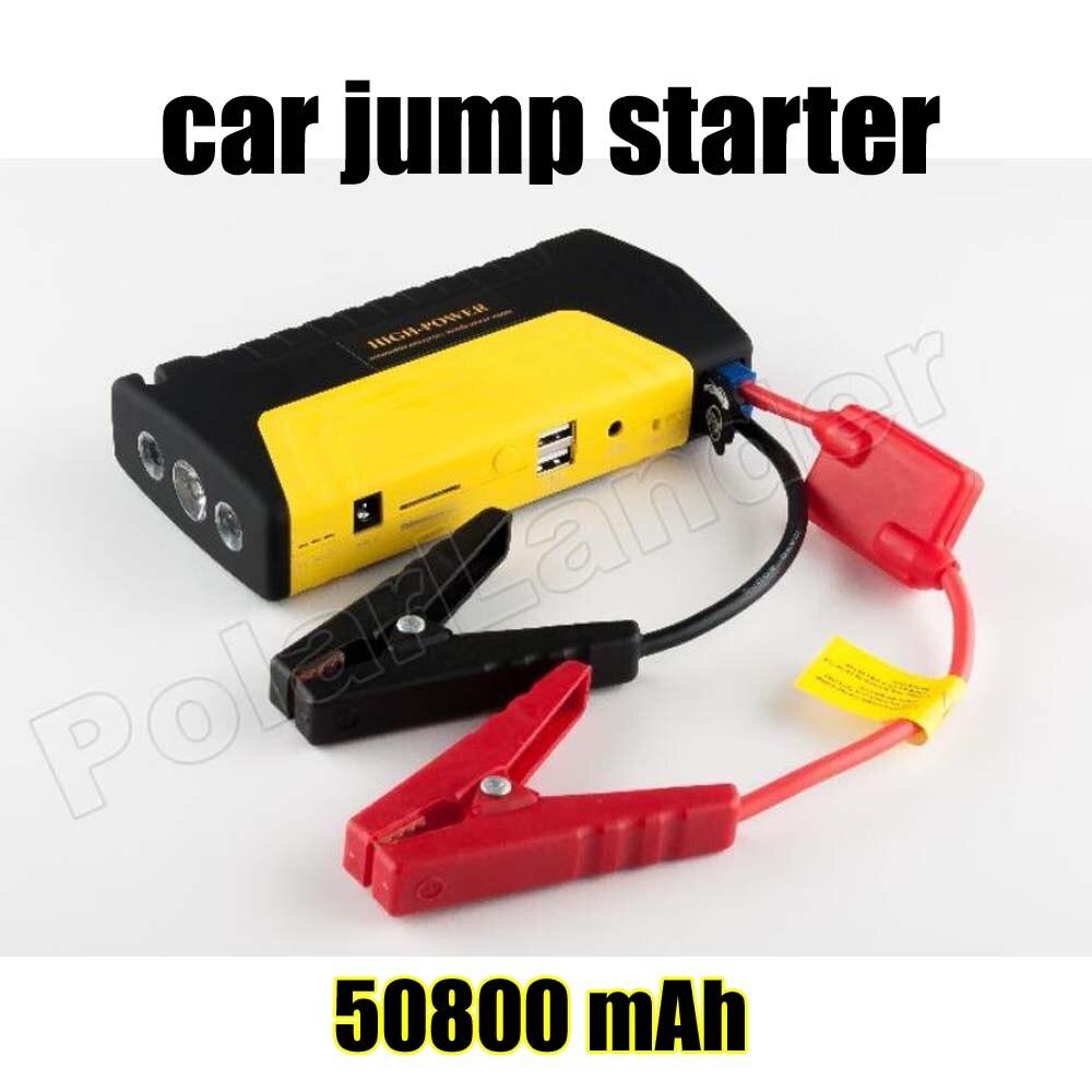 Free Shipping Hot Sale Car Booster Car Jump Starter Car Power Bank 50800 MAh Multi Function Power Bank 2 USB Port
