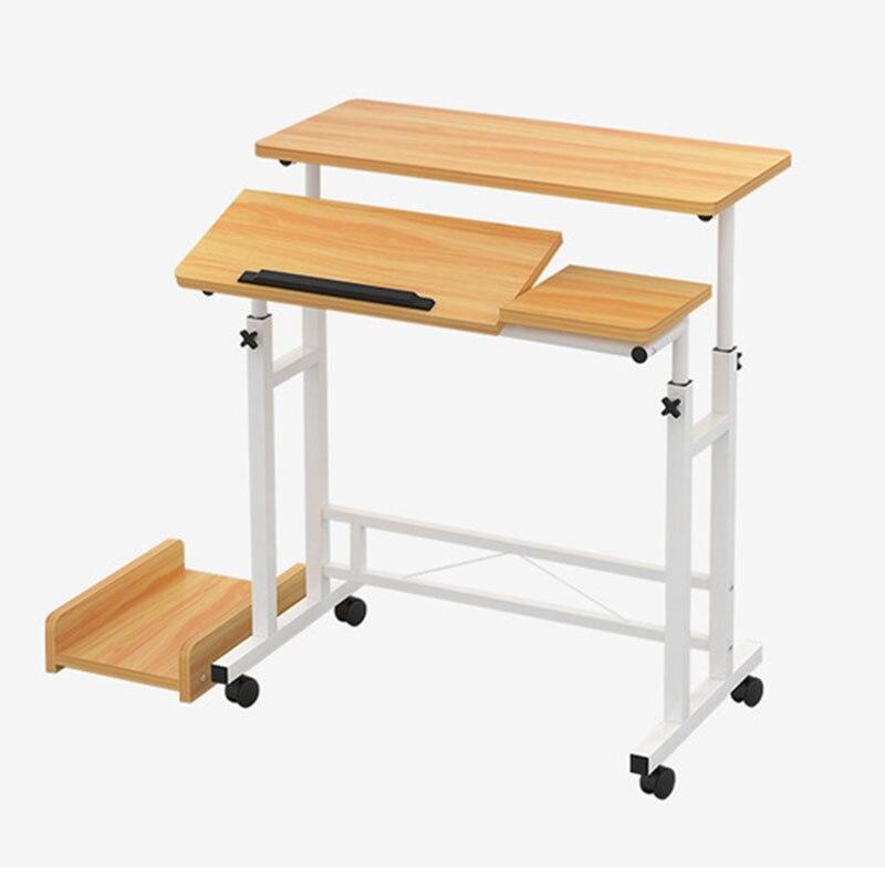 Ordinateur de bureau portable de levage de mode ordinateur de bureau plié table ajustable pour d'ordinateur portable étudiant apprentissage bureau mobilier de bureau à la maison
