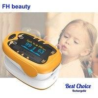 Baby Finger Pulse Oximeter Pediatric Oximetro De Dedo SpO2 PR OLED Rechargeable Neonatal Children kids Child Pulsioximetro CE