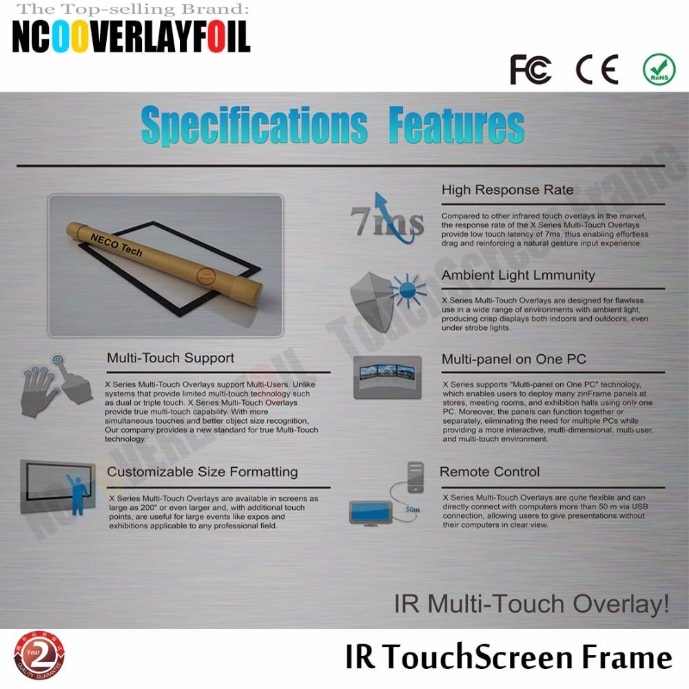 """True 10 касаний 4"""" ИК USB Сенсорный Экран наложения комплект, сенсорный экран монитор/панель, прозрачность и высокое разрешение"""