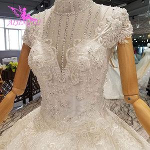 Image 2 - Vestidos de boda de satén AIJINGYU, vestidos de novia plisados en línea para ser un vestido de boda de Color