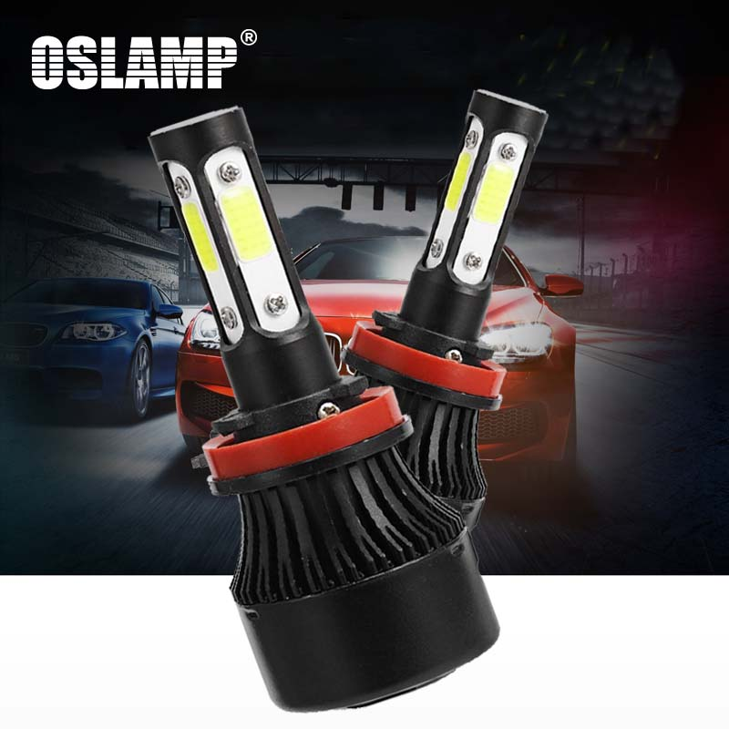 6X Longer Life 5000K Bright White Xenon Light 4X Brighter All Bulb Sizes and Colors OPT7 Cyclone AC H4 9003 Hi-Lo 55W HID KIT w//MOSPlusLife